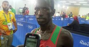 Ezekiel Kemboi came third and announced he was retiring.