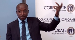 Corporate Staffing Services CEO Perminus Wainaina: Grooming and self-confidence is key.