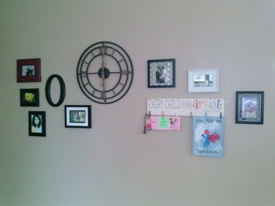 photo wall after