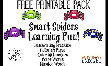 Free Printable Pack Of Smart Spiders Learning Fun