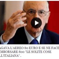 Napolitano e il volo da 800 euro
