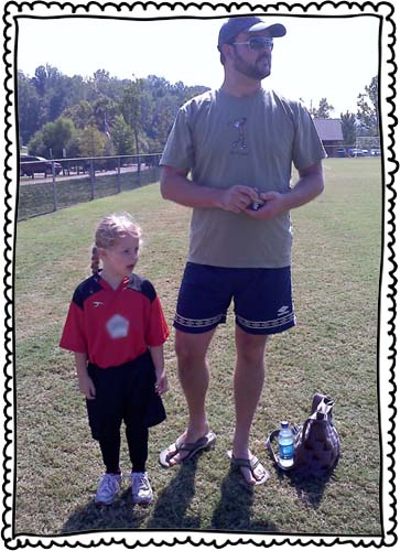 September 2010. Poppy started playing soccer.