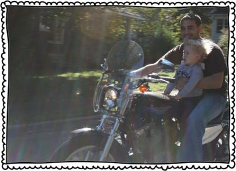 October 2010. Pete's first motorcycle ride.