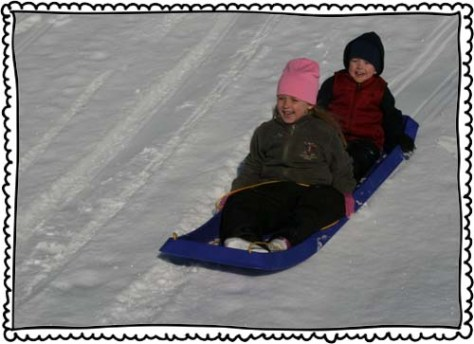 December 2010. We went sledding.