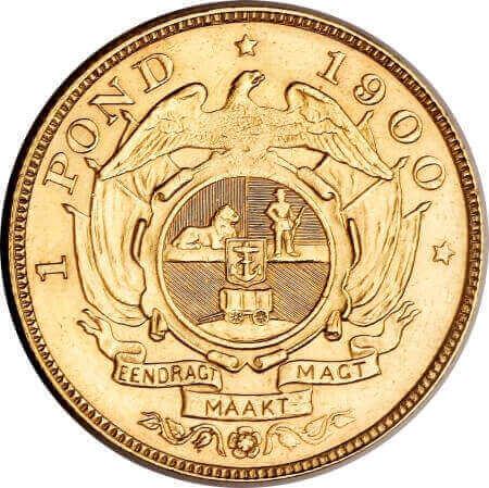 reverse side of the Kruger Pond coin