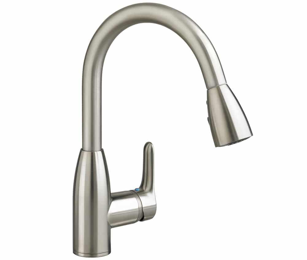 American Standard 4175.300.075 Colony Soft Pull Down Kitchen Faucet Stainless Steel