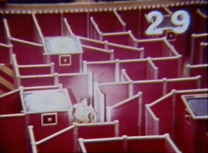 She has 29 seconds to maker her way out of the maze (ABC)