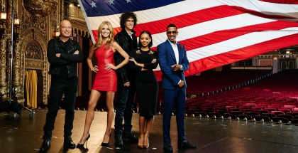 "AMERICA'S GOT TALENT -- Season: 10 -- Pictured: (l-r) Howie Mandel, Heidi Klum, Howard Stern, Melanie ""Mel B"" Brown, Nick Cannon -- (Photo by: Andrew Eccles/NBC/NBCU Photo Bank)"