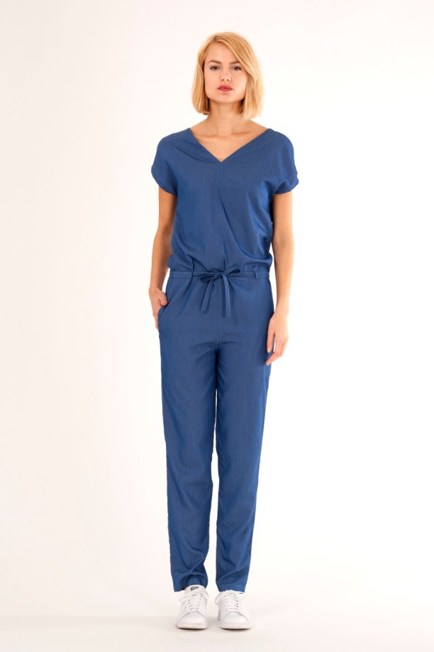 Denim jumpsuit with very soft and comfortable feel. By Barbara van der Zanden