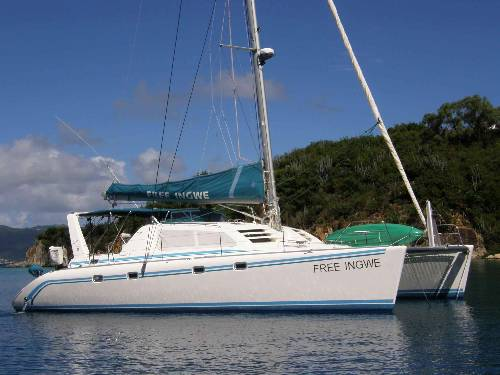 "BVI Catamaran Charter ""Free Ingwe"" is looking out for you!"