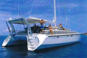 Catamaran Talaria in Antigua for Charter