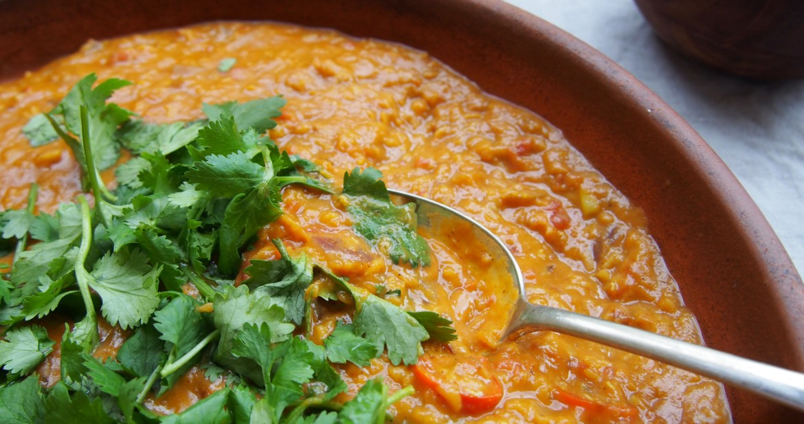 Creamy Coconut Dhal, Vegan Recipe, Indian Cuisine, The Rosedog Blog, recipe over on www.therosedogblog.me
