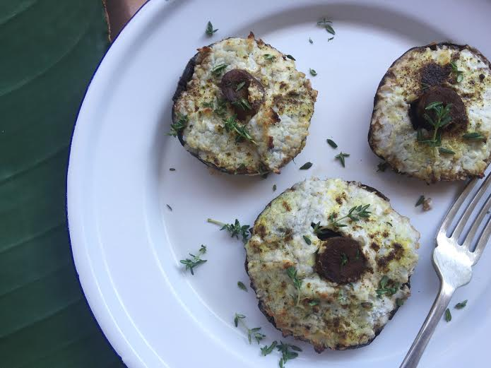 Goatscheese and Spring Onion Stuffed Mushrooms, Recipe By Rosie, www.therosedogblog.me