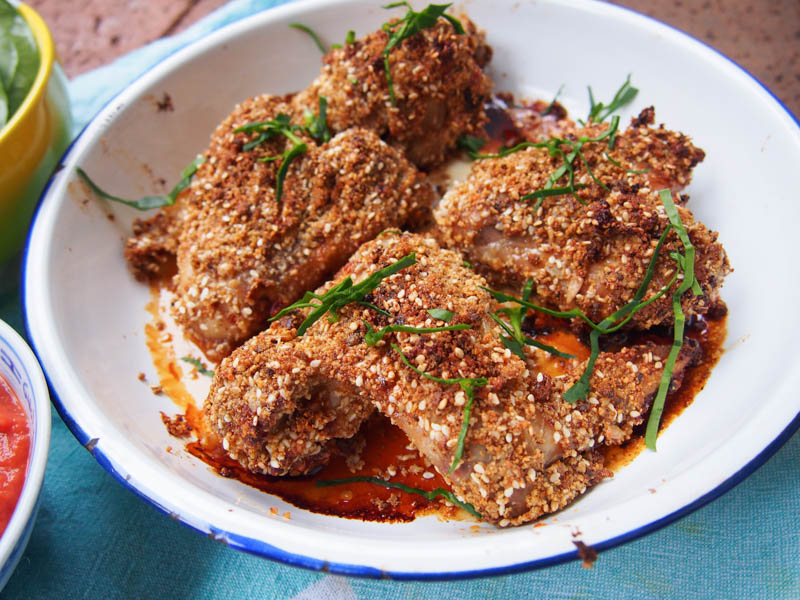 Crunchy Crumbed Chilli & Honey Chicken, Recipes By Rosie, www.by-rosie.com