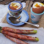 Posh Boiled Eggs & Soldiers, prosciutto wrapped asparagus and soft boiled eggs, paleo breakfast, recipes by rosie, www.by-rosie.com