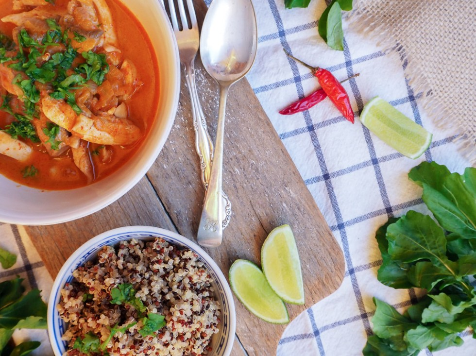 Quick Chicken Red Curry with Quinoa, Simple Cooking, Recipes by Rosie, www.by-rosie.com