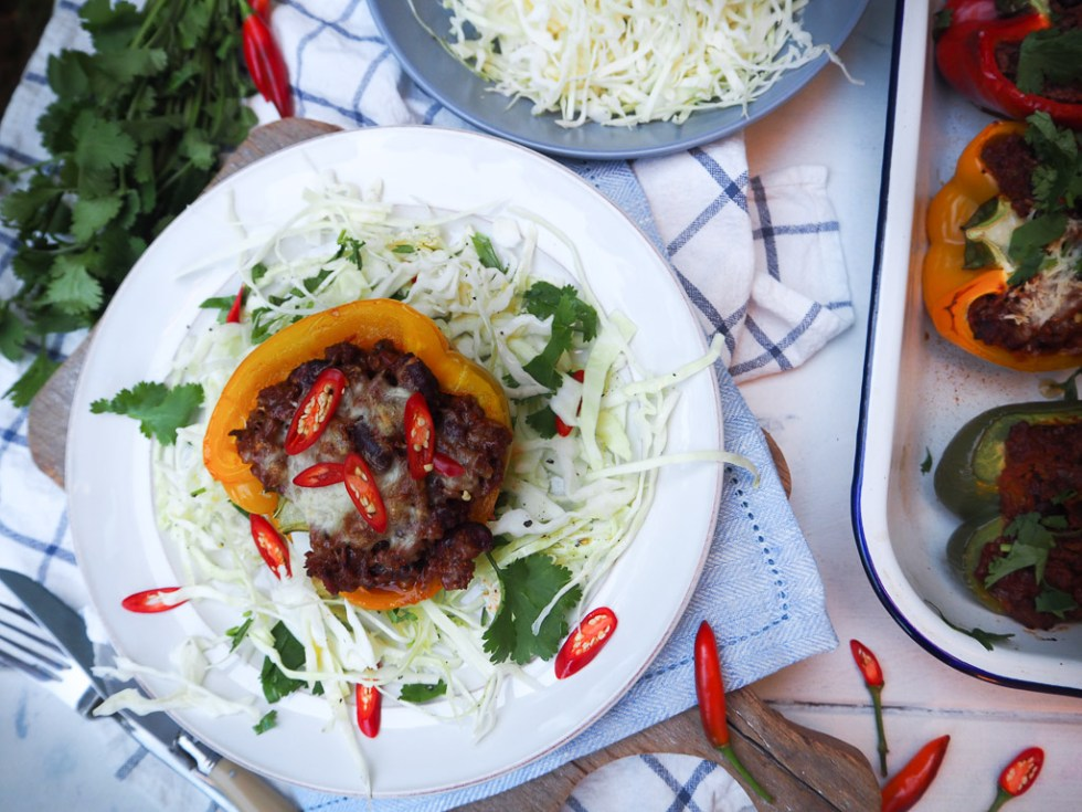 Stuffed Chilli Beef Capsicum, Simple Meal prep recipes by Rosie, find recipe over on www.by-rosie.com
