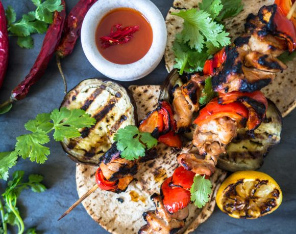 Sweet Chilli Chicken Kebabs