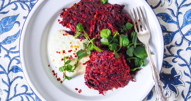 Beetroot Fritters