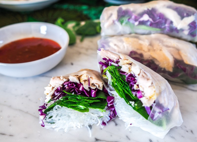 Rice paper rolls, how to make, recipes by rosie, www.by-rosie.com