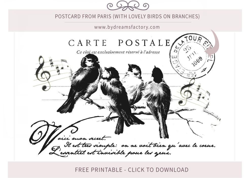 French Typography ♦ Vintage French Ephemera - Free download