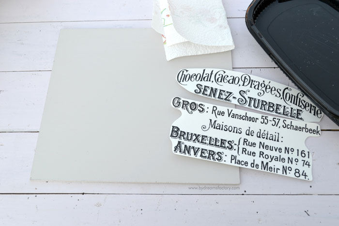 DIY French trays with changeable signs - Dreams Factory