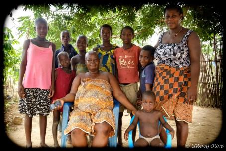 family in village