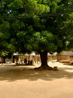 square in a tiny village in Ghana
