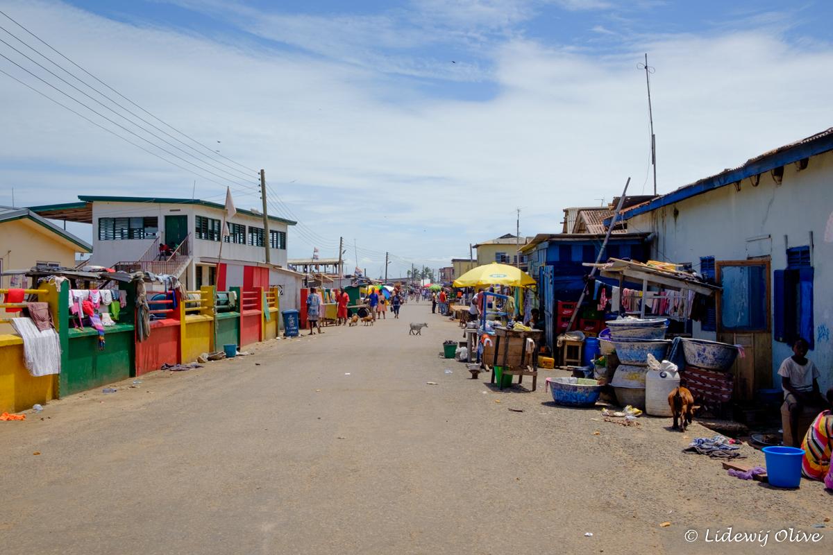 a street in elmina, Ghana