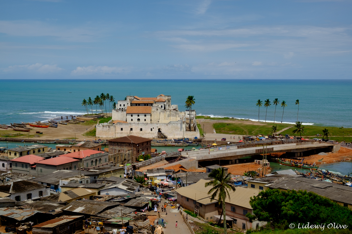 elmina castle and view over the atlantic ocean, Ghana