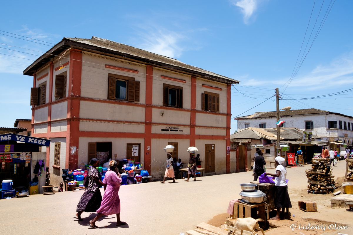 street in Elmina, Ghana