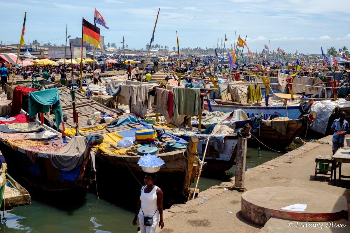 inside the elmina harbour