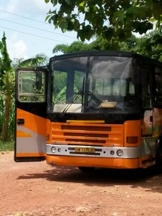 metro mass bus from Cape Coast to Kumasi, Ghana