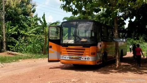 metro mass bus from Cape Coast to Kumasi, Ghana
