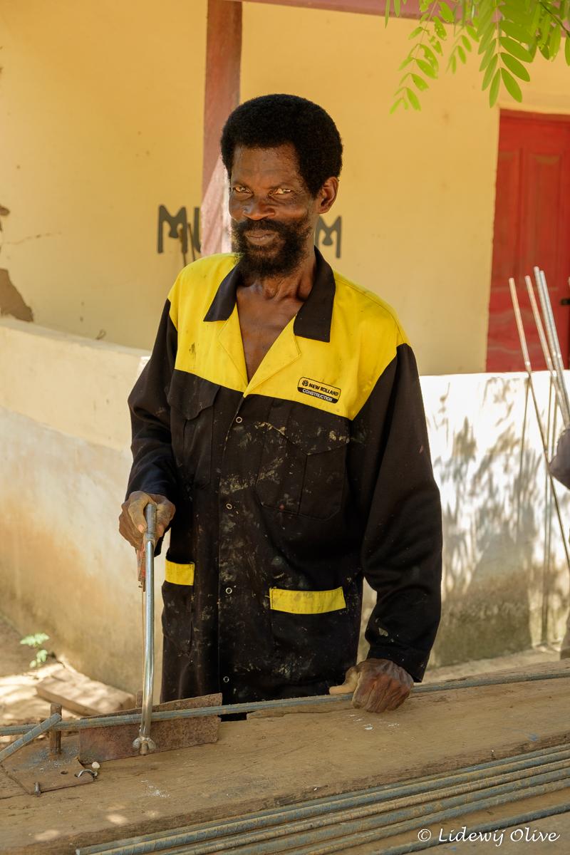 sawing in action in Atsiekpoe, Ghana