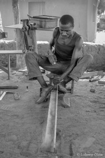 strong blacksmith in Atsiekpoe, Ghana