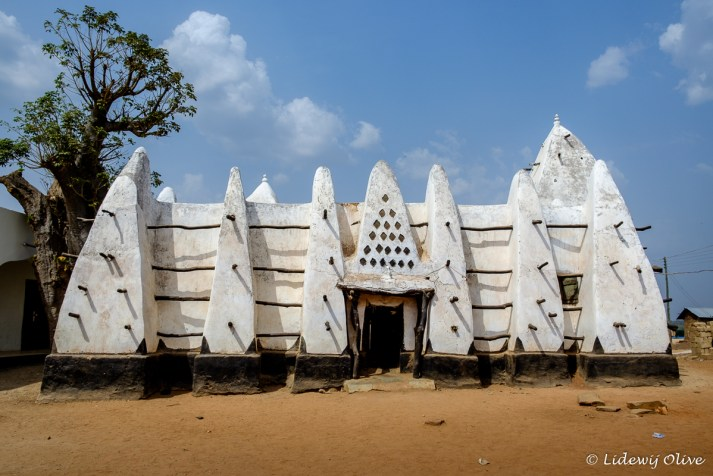 Mud and stick mosque in Larabanga, Ghana