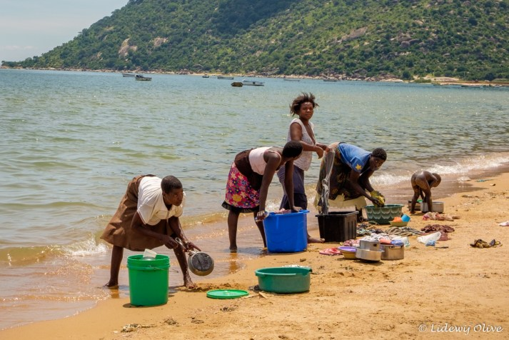Washing in Lake Malawi