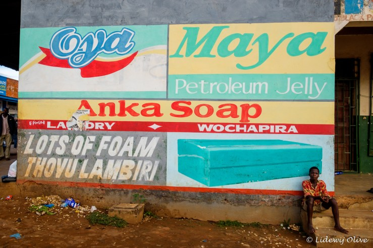 Commercials in Zomba are painted on the wall