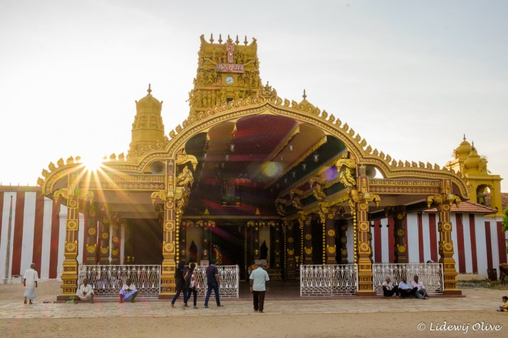 Nallur Kandaswamy temple at sunset