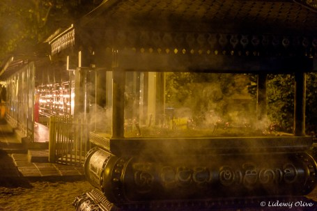 Incense at the temple of the tooth, Kandy