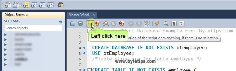 How to execute MySQL Script