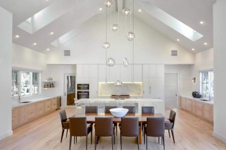modern light filled farmhouse interior designed by