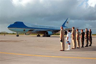 Air Force One at Diego Garcia