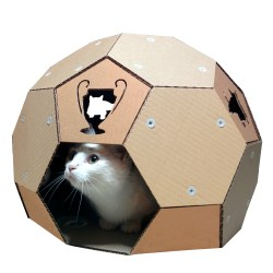 Small Of Cardboard Cat House