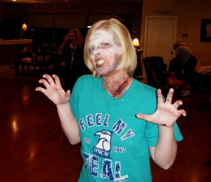My 15 minute 'Thiller' Zombie effect at Bab's McDance for a makeup seminar