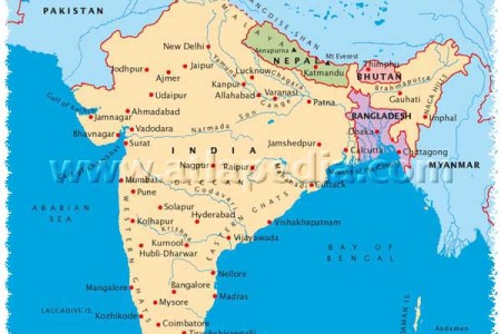 map of bhutan and nepal