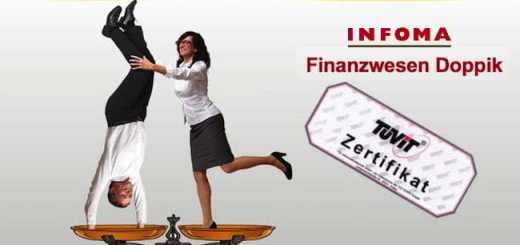 Der TÜV hat jetzt das poppige Finanzwesen von Infoma Newsystem 7 zertifiziert