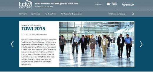 Drei Tage Business Intelligence gibt es auf der TDWI Konferenz 2015 im Juni in München