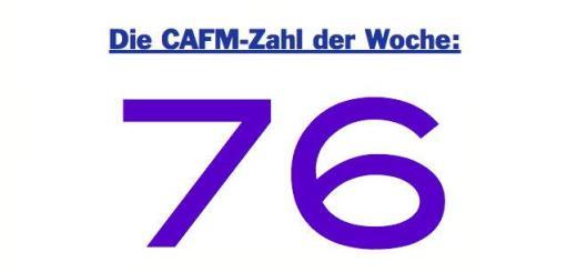 Die CAFM-Zahl der Woche ist dieses Mal die 76 - für die Sehnsucht der Nutzer nach mobilen Anwendungen